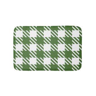 Shepherd's Check, stripe, Customise, Change colour Bath Mat