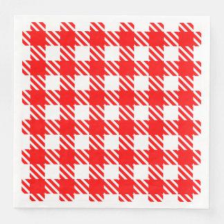 Shepherd's Check, stripe, Customise, Change colour Paper Napkin