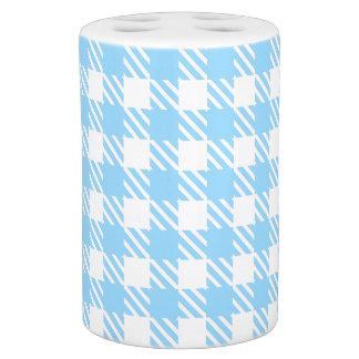 Shepherd's Check, stripe, Customise, Change colour Soap Dispenser And Toothbrush Holder