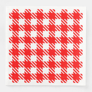 Shepherd's Check, stripe, Customize, Change color Paper Napkin