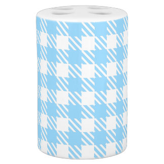 Shepherd's Check, stripe, Customize, Change color Soap Dispenser And Toothbrush Holder