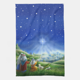 Shepherds Come to Bethlehem Kitchen Towel