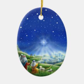 Shepherds Come to Bethlehem Ornament