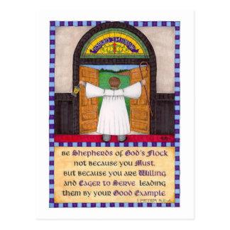 Shepherds of God's Flock Inspirational Post Card