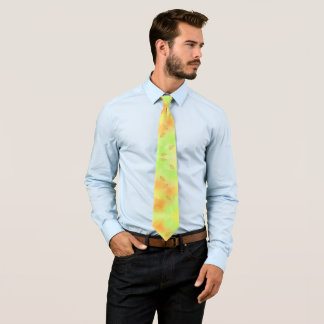 Sherbert Colors with Leaves Tie