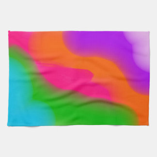 Sherbet Neon Watercolors kitchen towel