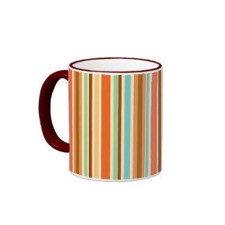 Sherbet Stripes Ringer Coffee Mug