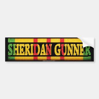 Sheridan Gunner Vietnam Service Bumper Sticker