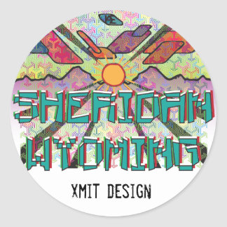 Sheridan, Wyoming Bumper Sticker! Classic Round Sticker