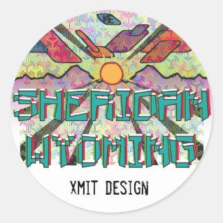 Sheridan, Wyoming Bumper Sticker! Round Sticker