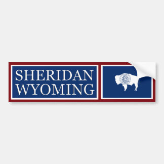 Sheridan Wyoming State Flag Bumper Sticker