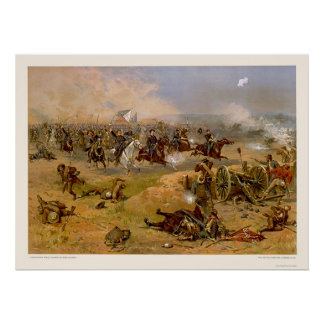 Sheridan's Final Charge by L. Prang & Company 1886 Poster