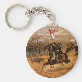 Sheridan's Ride by Thure de Thulstrup Key Ring