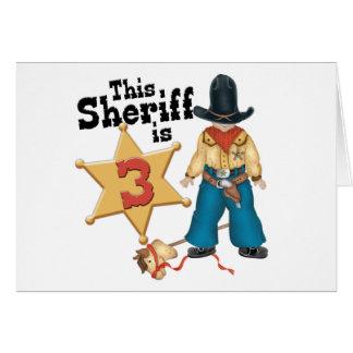 Sheriff 3rd Birthday Invitations Invitations Cards