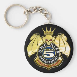 Sheriff Area 5 Badge Key Ring