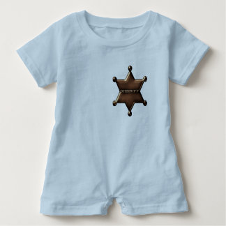 Sheriff Badge Custom Baby Bodysuit