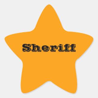 Sheriff Badge Stickers