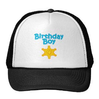 Sheriff Birthday Boy 4 Mesh Hats