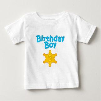 Sheriff Birthday Boy 5 Baby T-Shirt