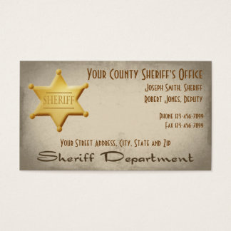 Sheriff Business Card
