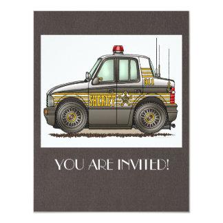 Sheriff Car Patrol Car Card