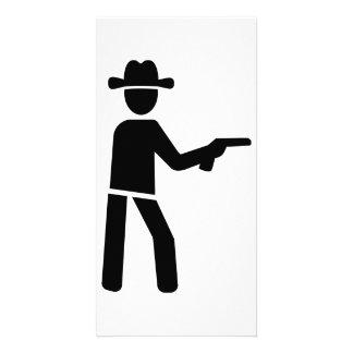 Sheriff cowboy custom photo card