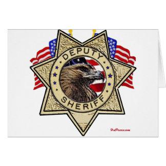 Sheriff Deputy Badge Card