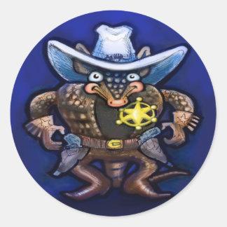 Sheriff Dillo Classic Round Sticker