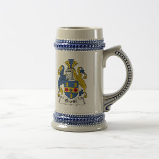 Sheriff Family Crest Beer Stein
