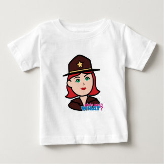 Sheriff Head - Light/Red Baby T-Shirt