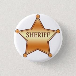 Sheriff plaque 3 cm round badge