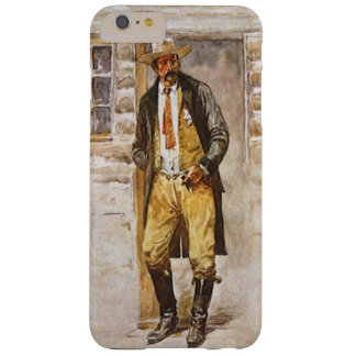 Sheriff Portrait by Seltzer, Vintage West Cowboy Barely There iPhone 6 Plus Case