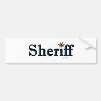 Sheriff_Script Bumper Sticker