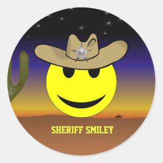 Sheriff Smiley sticker