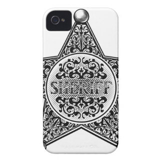 Sheriff Star Badge Engraved Style iPhone 4 Cases