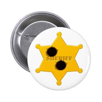 Sheriff star of bullet holes sheriff's star bullet 6 cm round badge