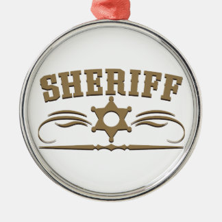 Sheriff Western Style Metal Ornament