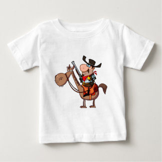 Sheriff With Gun On Horse Baby T-Shirt