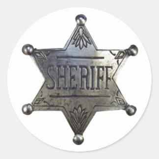 Sheriff's Badge Classic Round Sticker