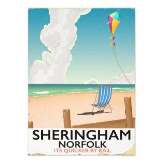 Sheringham Norfolk Beach travel poster Art Photo