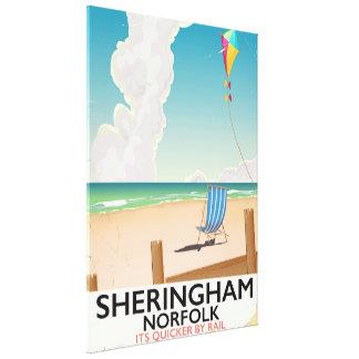 Sheringham Norfolk Beach travel poster Canvas Print