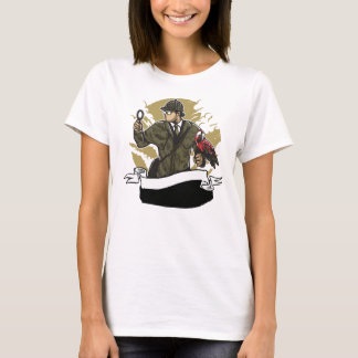 Sherlock Holmes Looking for Clues Magnifying Glass T-Shirt