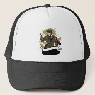 Sherlock Holmes Looking for Clues Magnifying Glass Trucker Hat