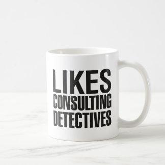SHERLOCK LIKES CONSULTING DETECTIVES COFFEE MUG