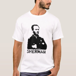 Sherman -- Black and White T-Shirt