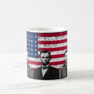 Sherman, Lincoln, and Grant with Black Border Coffee Mug