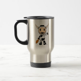Sherman the Alaskan Cow Silver Travel Mug
