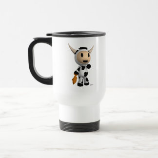 Sherman the Alaskan Cow White Traveler Mug