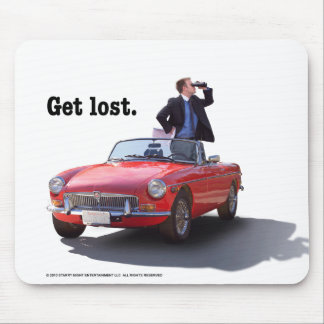 """Sherman's Way """"Get Lost"""" Mouse Pad"""