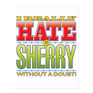 Sherry Hate Face Postcard
